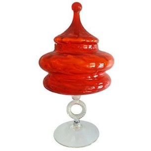 Orange Empoli Double Tagine Apothecary For Sale