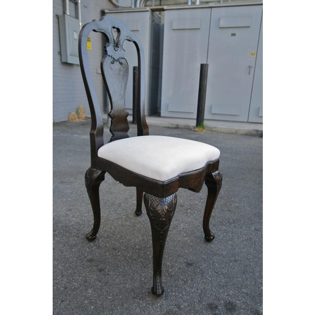 19th Century Dutch Library Desk Table and Chairs Set For Sale In Los Angeles - Image 6 of 9