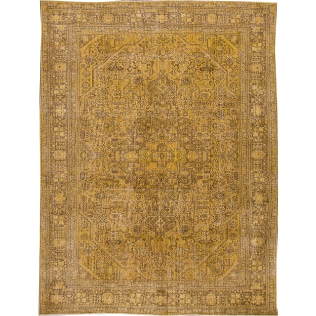 Apadana Yellow Over-Dyed Rug - 9′5″ × 12′8″ For Sale