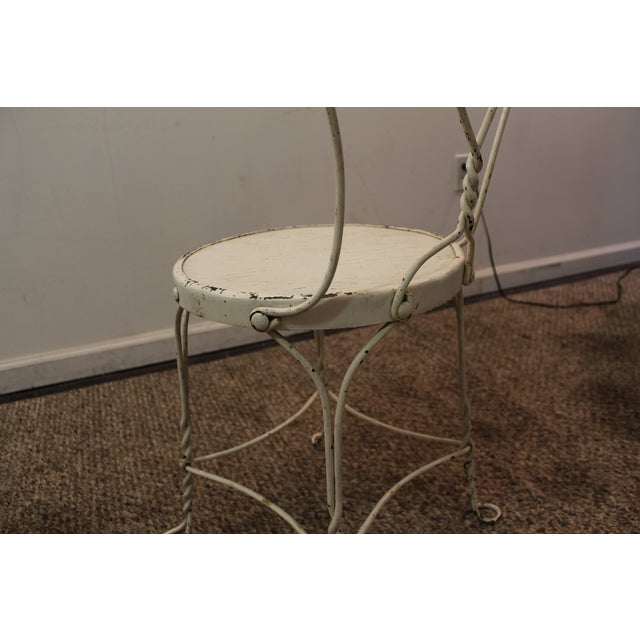 Vintage Ice Cream Heart-Back Wire Side Chair - Image 9 of 11