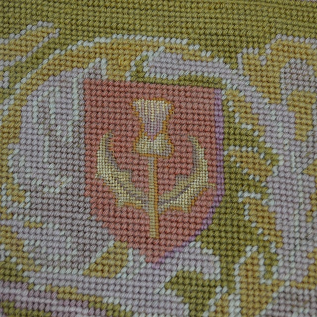 Textile Lathe 19th Century Wool Needlepoint Panel With Lady and Cheetah For Sale - Image 7 of 13