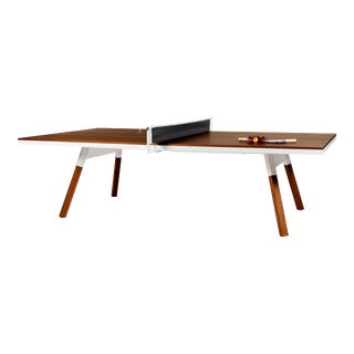 RS Barcelona You and Me Indoor Ping Pong Table, Walnut and White For Sale