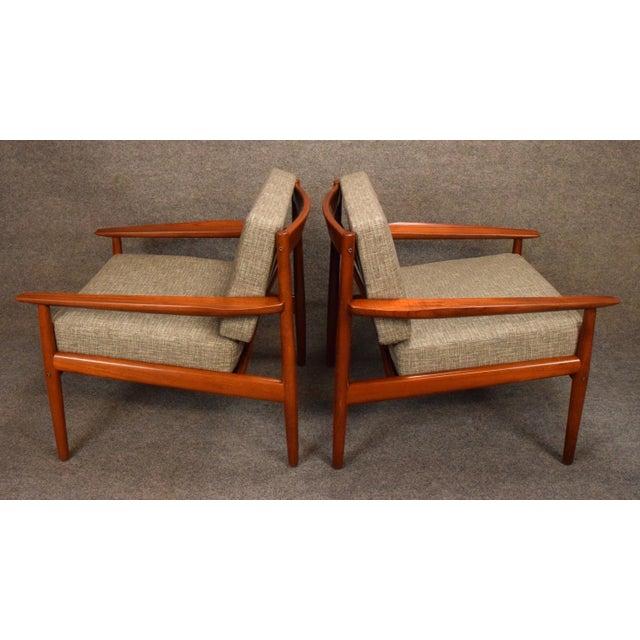 Fiber 1960s Scandinavian Modern Arne Vodder Teak Lounge Chairs - a Pair For Sale - Image 7 of 11