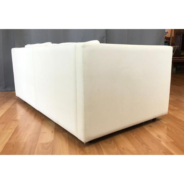 Charles Pfister for Knoll Settee in Off-White Canvas For Sale In San Francisco - Image 6 of 13