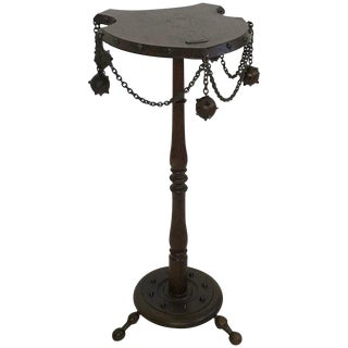 1930s Medieval Themed Smoking Side Table For Sale