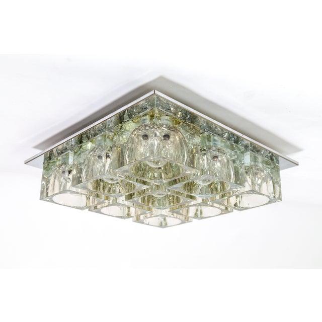 Lightolier Lightolier Glass Blocks 9-Light Flush Mount For Sale - Image 4 of 13