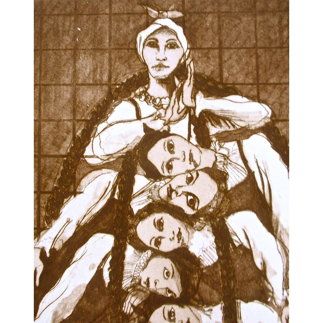 """""""Oakland Ballet-Les Noces"""" Etching - Image 4 of 8"""