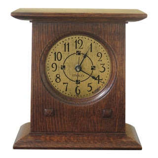 Stickley Mission Oak Small Mantle Clock For Sale