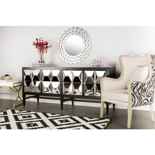 Contemporary Wooden & Glass Spike Sideboard For Sale - Image 4 of 6