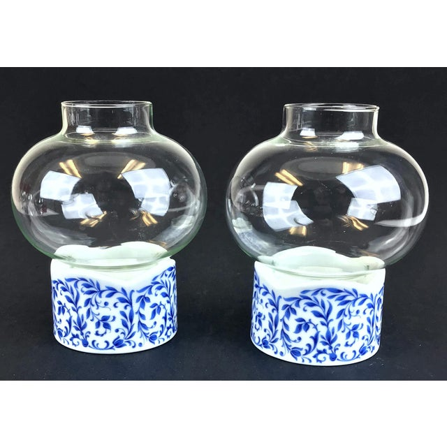 Shabby Chic 1970s West Germany Candle Holder With Glass Dome - a Pair For Sale - Image 3 of 13