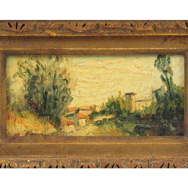 Figurative 20th Century Alexandre Mediterranean Landscape Miniature Painting For Sale - Image 3 of 9