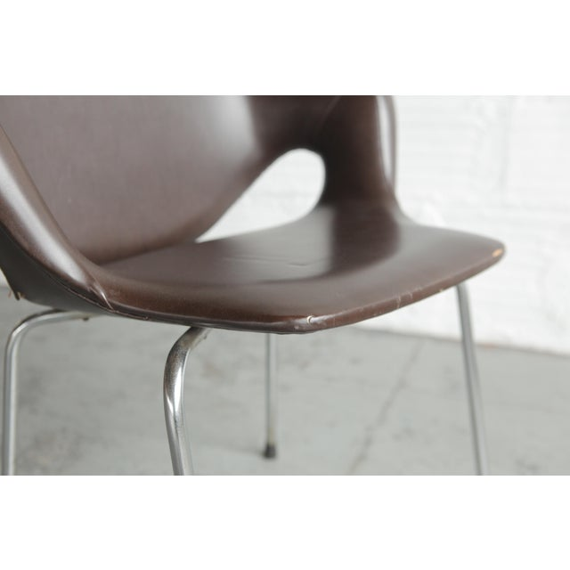 Brown Vintage Mid Century Huonekalutehdas Sopenkorpi Finish Chair For Sale - Image 8 of 9