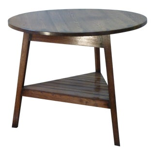 Late 20th Century English Traditional Oak Cricket Table