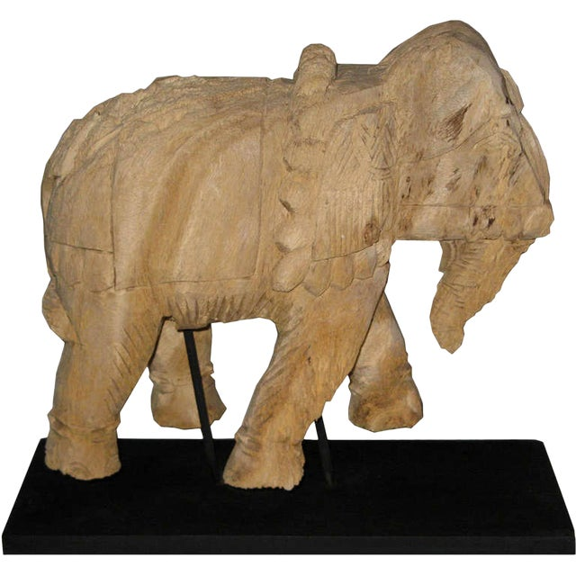 Thai Carved Wood Elephant For Sale