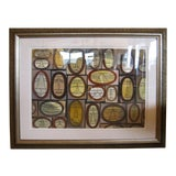 Image of 1950s Vintage William Henry Mid-Century Modern Cubist Watercolor Painting For Sale