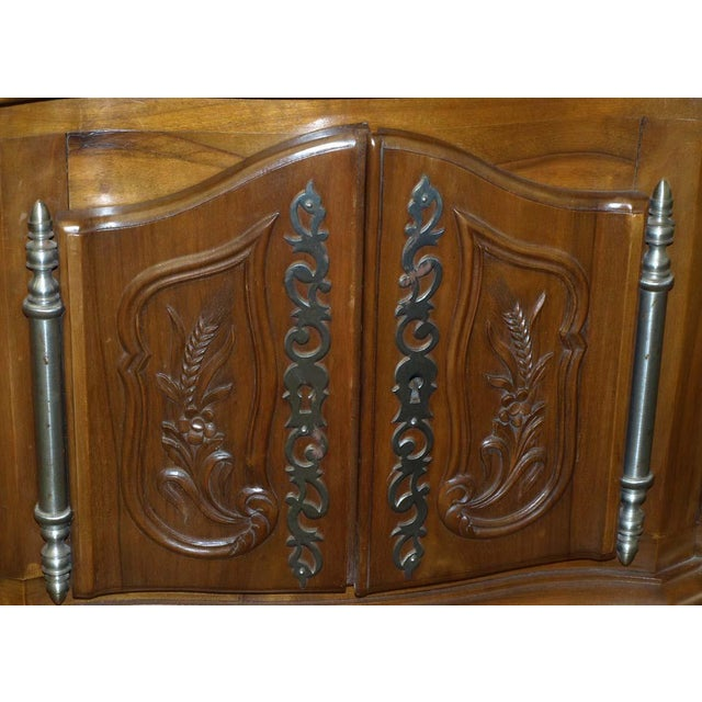 Walnut Carved Walnut French Console For Sale - Image 7 of 10
