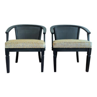 1980s Vintage Cane Barrel Chairs - a Pair For Sale