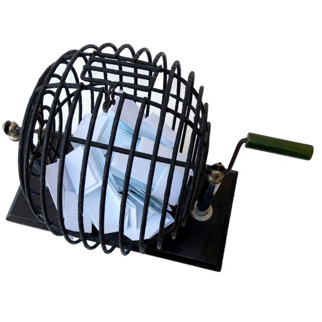 Perfect for your next game night! Whether it's a raffle draw or bingo, this wire cage spinner will deliver!