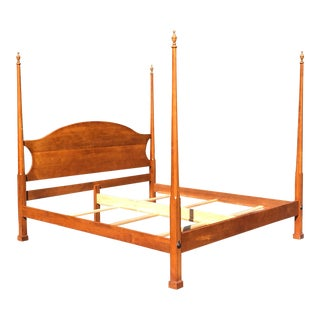 Solid Cherry Traditional King Bed For Sale