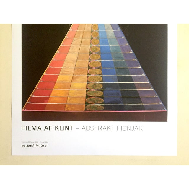 "Various Artists Hilma Af Klint Abstract Lithograph Print Moderna Museet Sweden Exhibition Poster "" Altarpiece No.1 Group X "" 1915 For Sale - Image 4 of 13"