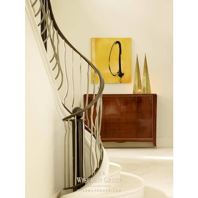 2010s Pair of Tall 'Pyramide' Console or Floor Lamps by Design Frères For Sale - Image 5 of 6