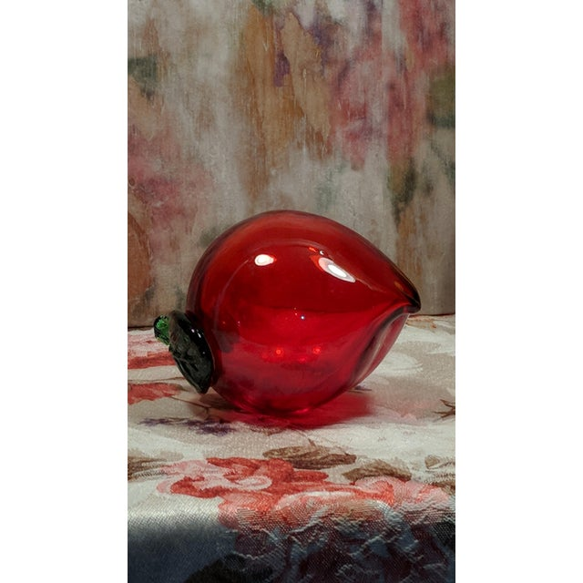 Blown Glass Vintage Blown Glass Translucent Fruit Vegetable For Sale - Image 7 of 12