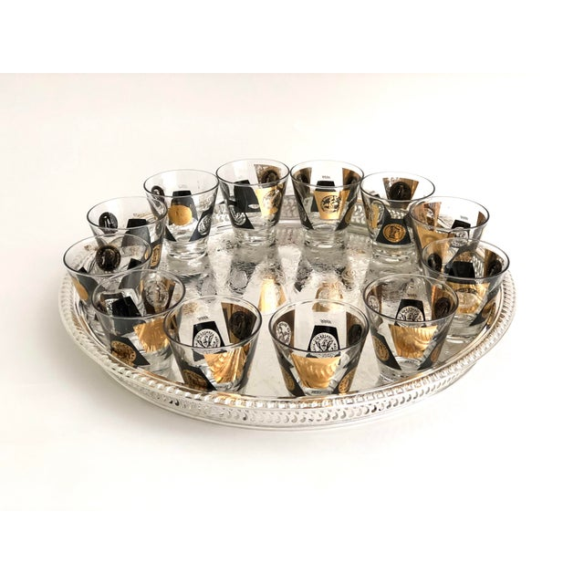 1960s 1960s American Classical Gold Leaf Shot Glasses- Set of 12 For Sale - Image 5 of 6