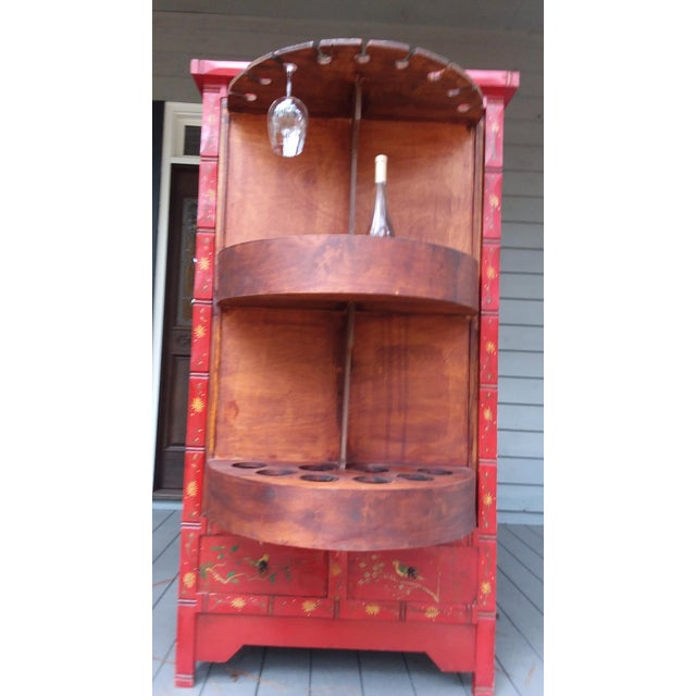 Red Red Dragon Wine Cabinet For Sale - Image 8 of 11