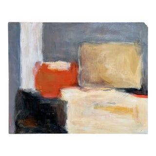Abstract Painting on Board For Sale