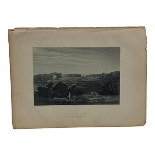 "Antique Original Engraving ""Bethlehem"" by J. Cramb Circa 1890 For Sale"