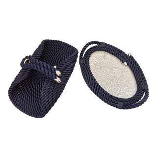 Sailors Rope Yacht Marine Tray & Basket - A Pair