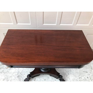 Antique American Mahogany Empire Folding Game Table Preview