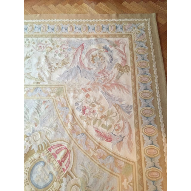 Aubusson French Wool Rug - 9′9″ × 14′2″ - Image 6 of 11