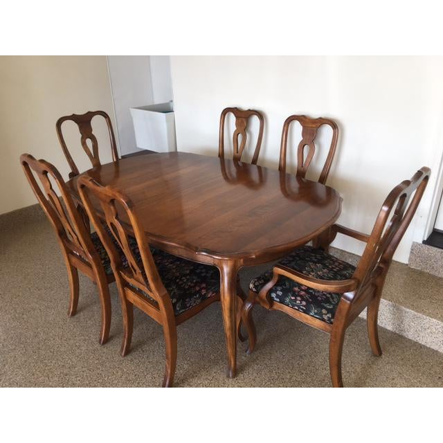 Ethan Allen Country French Dining Set - Image 9 of 11