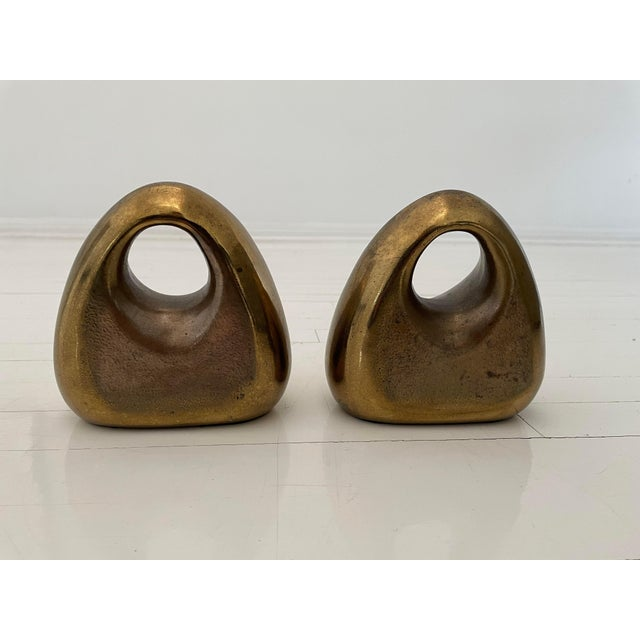 Ben Seibel 1950s Ben Seibel Brass Bookends - a Pair For Sale - Image 4 of 5