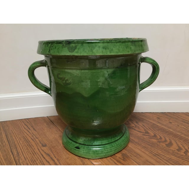 19th Century French Green Terra Cotta Pitcher For Sale - Image 6 of 6
