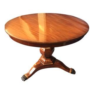 19th Century Germany Biedermeier Parcel Gilt Mahogany Center Table