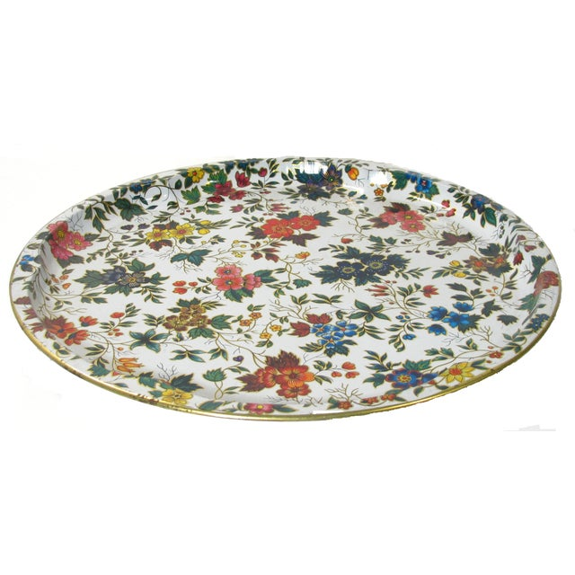 Vintage English Daher Floral Tray - Image 2 of 4