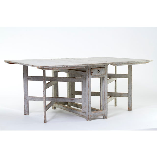Wood Early 19th Century Antique Swedish Dining Table For Sale - Image 7 of 8
