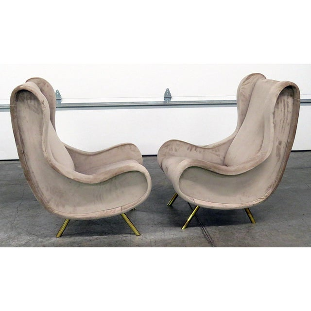 Pair of Italian Modern Lounge Chairs - Image 5 of 9