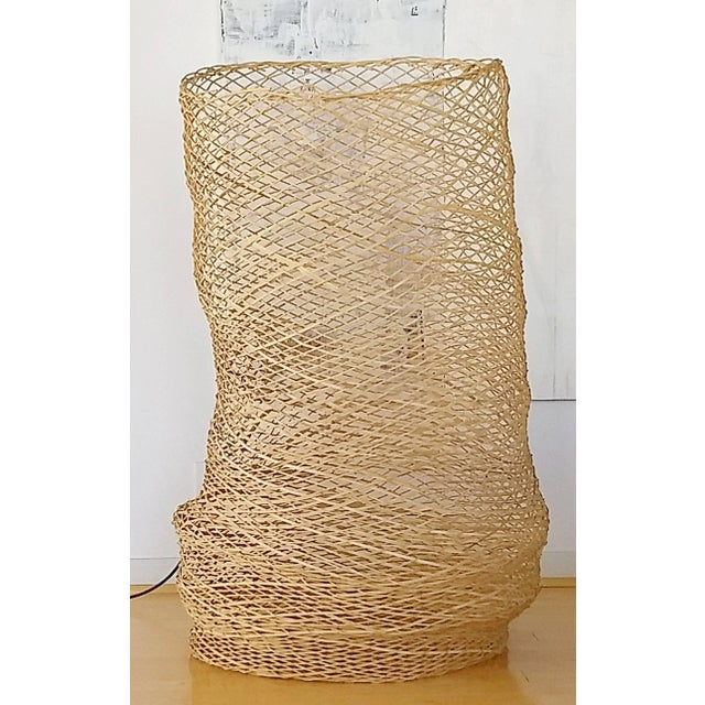 Contemporary Linda Kelly Contemporary Woven Basket Standing Floor Art Sculpture For Sale - Image 4 of 7