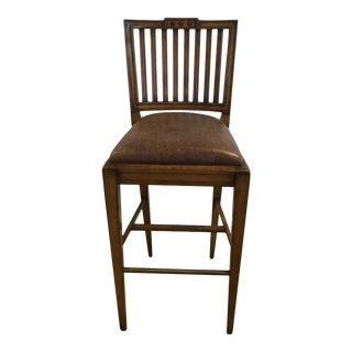 Charles Pollock Gustavian Bar Stool For Sale