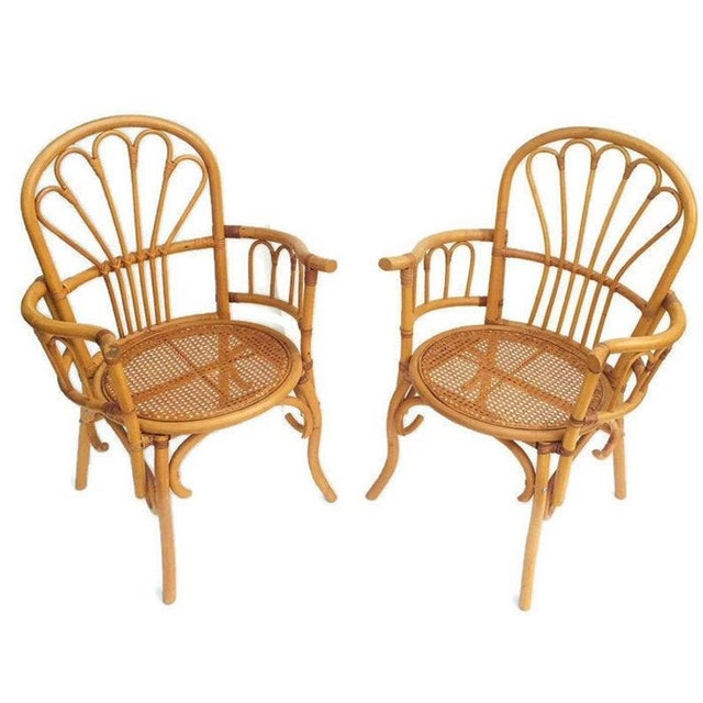 1980s 1980s Vintage Bent Bamboo Arm Chairs - a Pair For Sale - Image 5 of 13