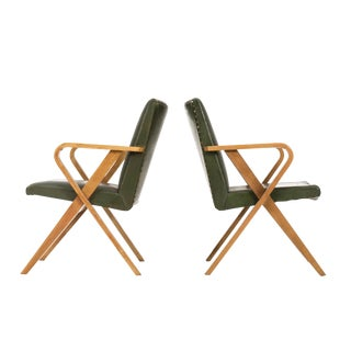 Pair of Henry Glass Armchairs For Sale
