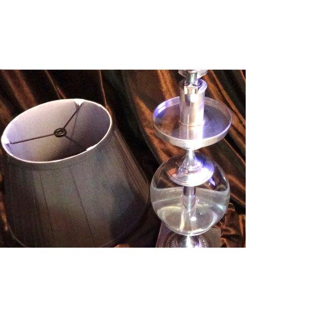 Restoration Hardware Crystal Ball Lamp - Image 5 of 8