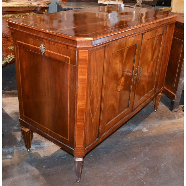 Very Fine English Inlaid Server / Bar For Sale - Image 4 of 10