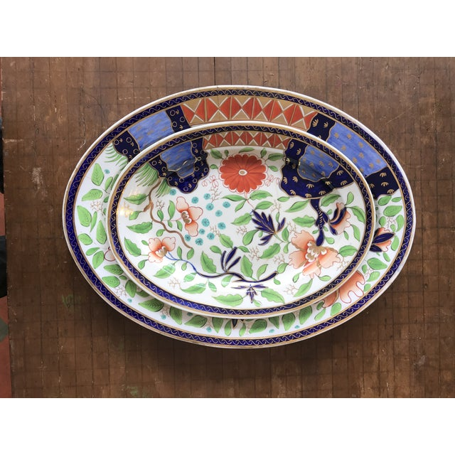 1820s Gaudy Ironstone Platters - a Pair For Sale - Image 11 of 11