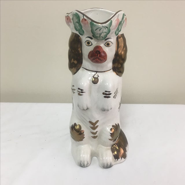 "Staffordshire ""Begging Dog"" Pitcher - Image 2 of 5"
