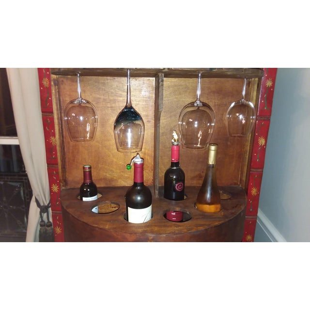 Red Dragon Wine Cabinet For Sale - Image 9 of 11