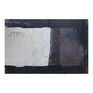 Large Abstract Modern Painting on Wood by William Finlayson For Sale